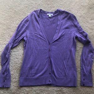 NY & Co lavender cardigan